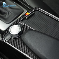 Airspeed for Mercedes Benz C Class W204 E Class W212 Accessories Carbon Fiber Car Interior Armrest Panel Cover Trim Decorations