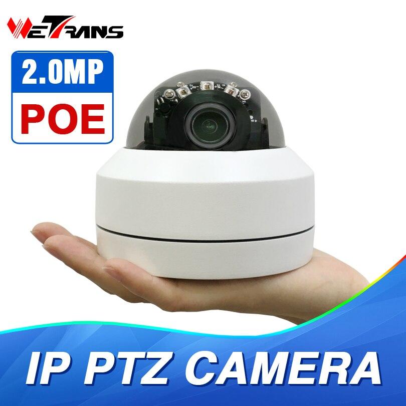 PTZ Vitesse Caméra Dôme IP 1080 p Full HD Onvif 3X Zoom P2P H.264 30 m IR Vision Nocturne Imperméable À L'eau 2MP En Plein Air Dôme POE PTZ IP Caméra