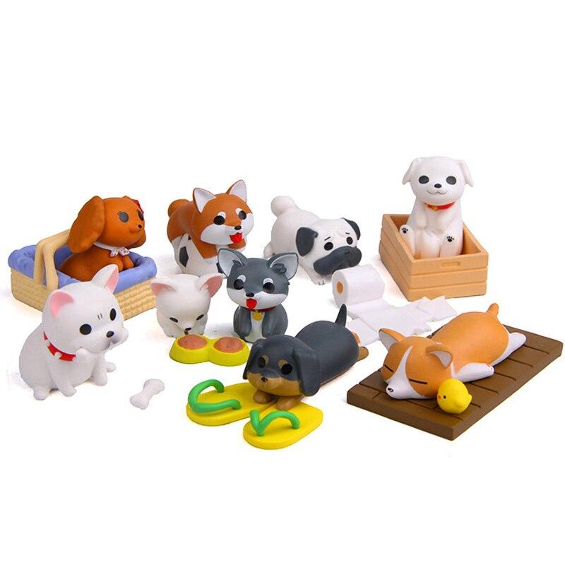 Image 5 - Artificial Puppy Model Mini Dog figurine cartoon animal fairy garden home miniature ornament desk decoration DIY accessory-in Figurines & Miniatures from Home & Garden