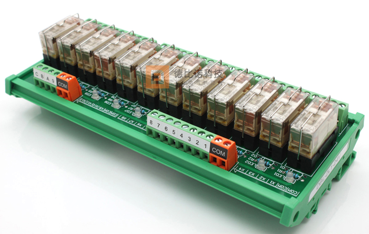 12 Channel Relay 24VDC I/O Rack Module Circuit Board 1pcs current detection sensor module 50a ac short circuit protection dc5v relay