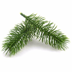 Image 4 - 10pcs Artificial Plastic Green Pine Plants Branches Wedding Home Party Decorations DIY ChristmasTree Handcraft Accessories
