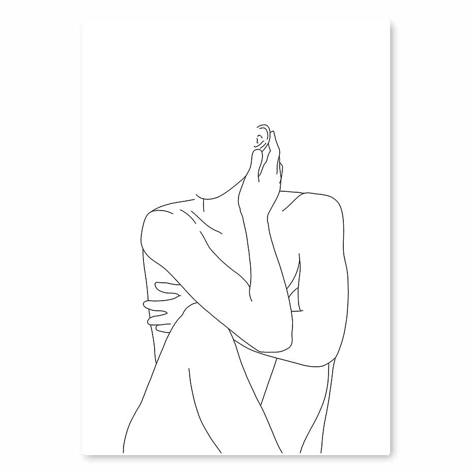 Naked Body Line Art