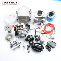 39 мм GY6 скутер Двигатели для автомобиля Rebuild Kit цилиндр комплект Двигатели для автомобиля головы pd18 Карбюраторы для мотоциклов AC CDI вентилято
