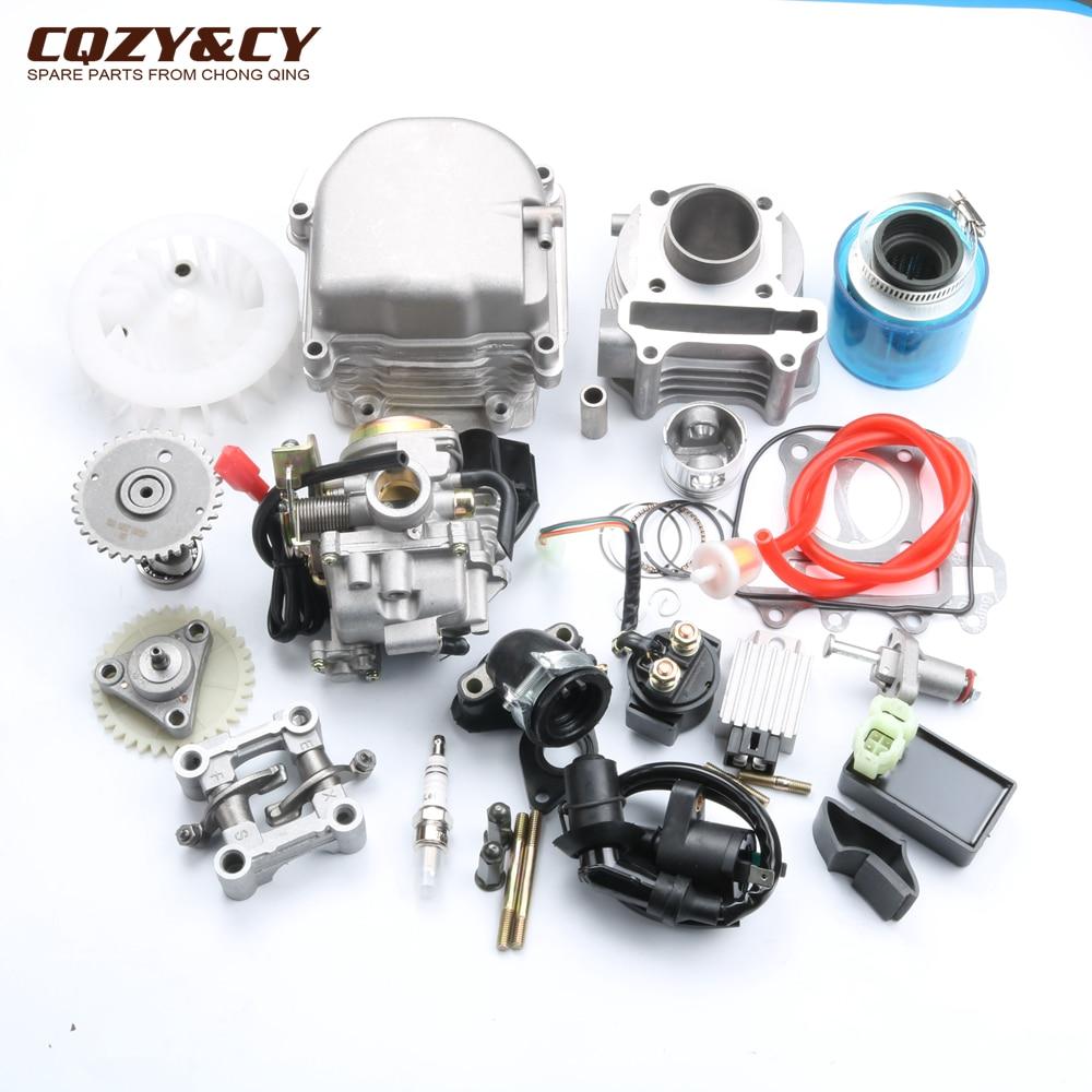 Kit de reconstruction moteur Scooter 39mm GY6 Kit cylindre tête de moteur PD18 carburateur AC CDI ventilateur 38mm modifié filtre à Air Chines 139QMB