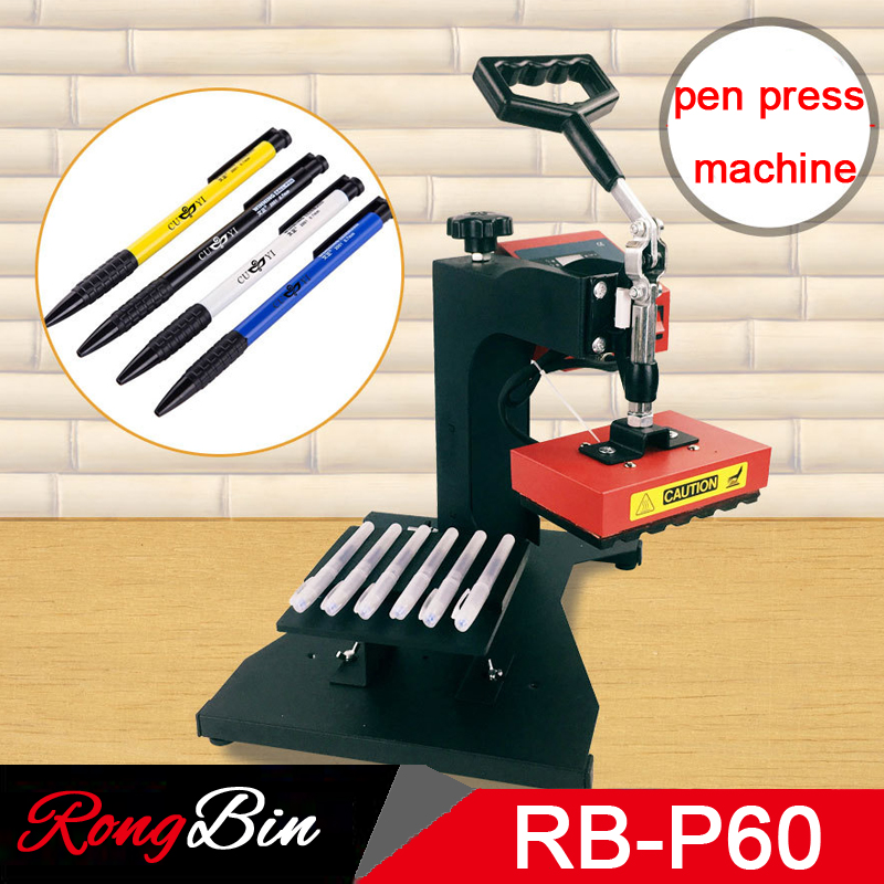 6 в 1 ручка Пресс Машина Пера Печатная Машина тепла Пресс машина для шариковая ручка DIY трансферная печать 6 шт. один раз