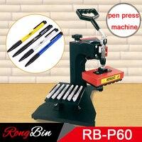 6 в 1 сублимации пера Пресс машина ручка шариковая ручка печати тепла Пресс машина DIY теплопередачи сублимации 6 шт. один раз