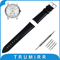 Genuine Leather Watch Band 16mm 18mm 20mm 22mm 24mm + Tool + Pins for Armani Watchband Strap Wrist Belt Bracelet Brown Black