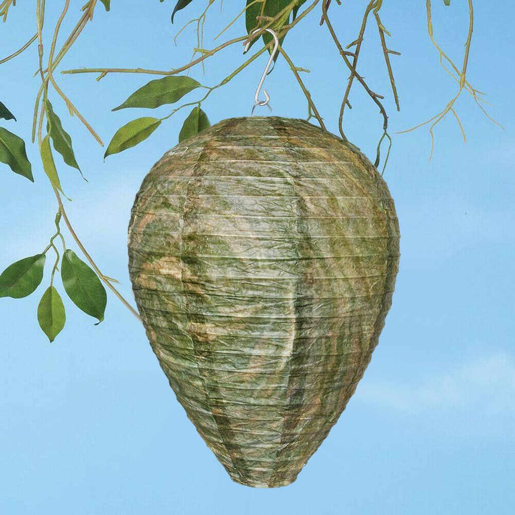 Wasp ยับยั้ง Yellowjackets ผึ้ง Hornets ปลอม Wasp Nest จำลองยับยั้งประณีตเฟอร์นิเจอร์