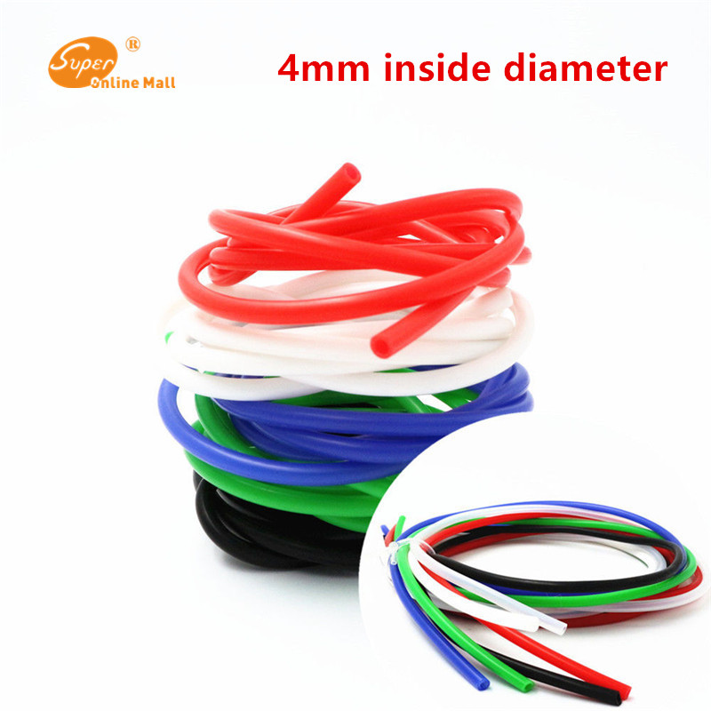 1m 4mm ID x 6mm OD Food Grade Silicone Flexible Tubing - High Temp Hose image