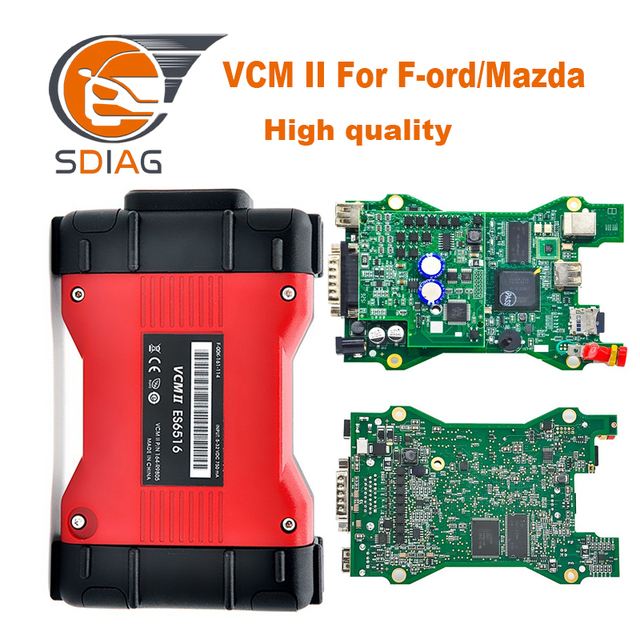 VCM 2 for vcm ii ids for Mazda obd2 scann tool vcm2 V101 car diagnostic tool A+ quality hot sell in 2019 free shipping
