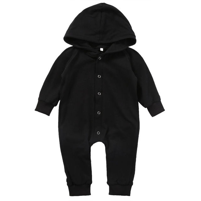 b7497570e31d Toddler Infant Newborn Baby Boy Clothing Romper Long Sleeve Black Jumpsuit  Playsuit Clothes Outfits 0-24M
