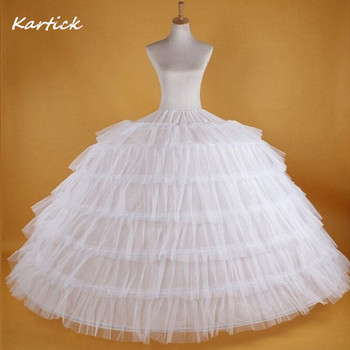 Big White Petticoats Super Puffy Ball Gown Slip Underskirt For Adult Wedding/Formal Dress Brand New Large 6 Hoops Long Crinoline 2018 new hot sell 6 hoops big white petticoat super fluffy crinoline slip underskirt for wedding dress bridal gown in stock
