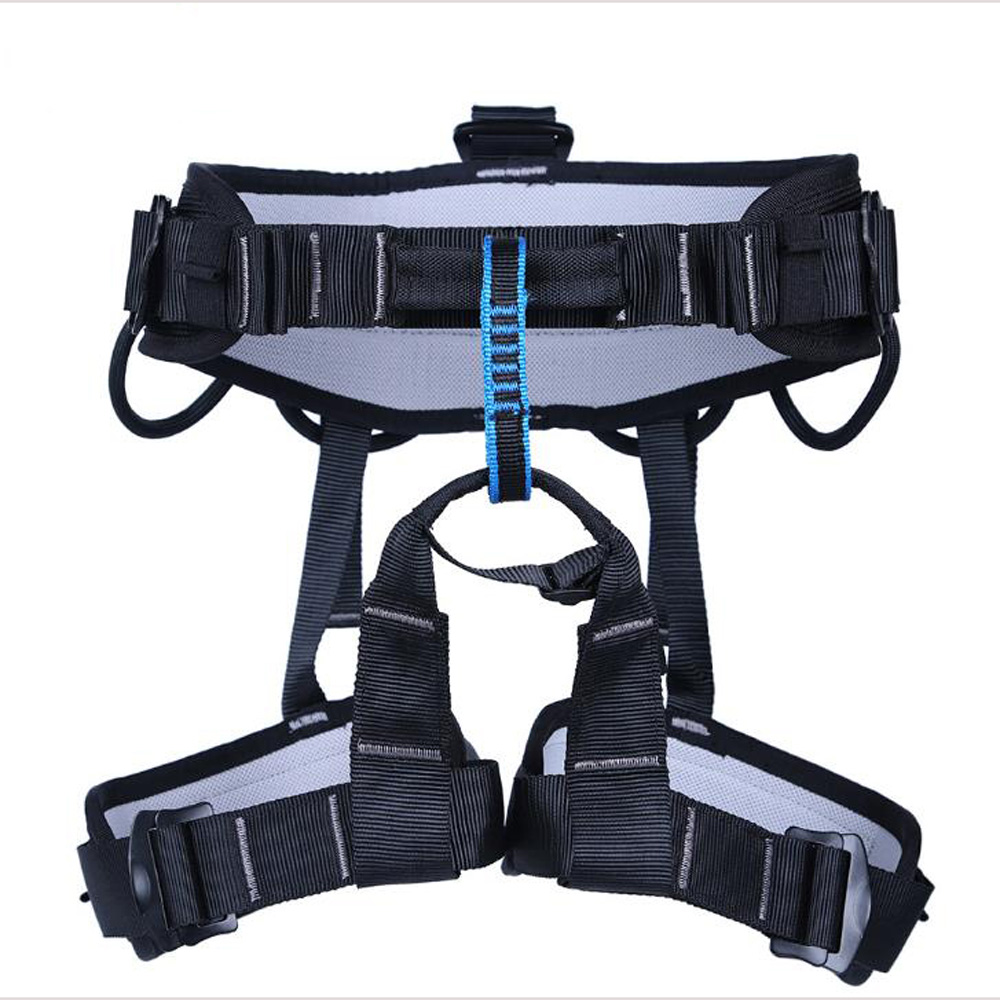 Professional Rock Climbing Harness Half Body Safety Rappelling Mountaineering Belts Rescue Fall Arrest Protection Equipment