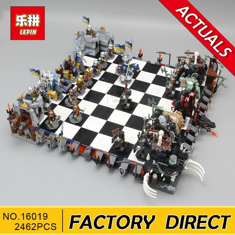 Lepin 16019 véritable série de films le château géant jeu d'échecs 852293 blocs de construction briques jouets éducatifs comme cadeau de noël enfant