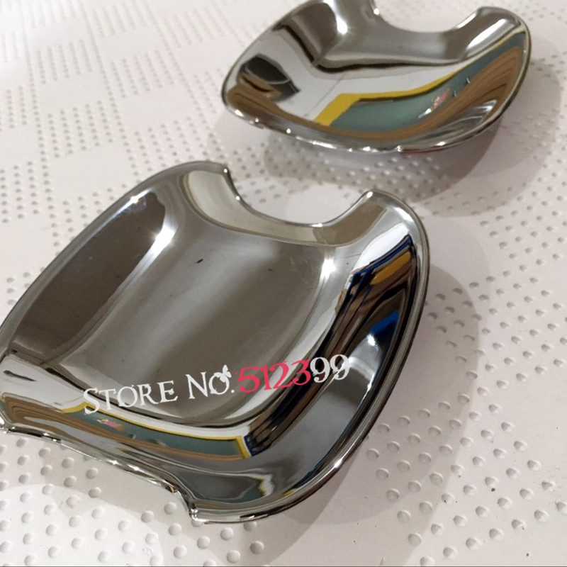Accessories! ABS Chrome Outer Door Handle Bowl Decoration Cover Trim 2pcs/ Set Car styling For Toyota C-HR CHR 2016 2017 for nissan r35 gtr oem carbon fiber outer door handle cover pull surround 2pcs