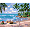 Y50 Holiday Beach Landscape Oil Painting Hand Painted Picture Template Digital DIY Painting On Canvas Painting