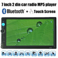 New 7'' inch Touch Screen Auto Radio stereo MP5 Player Bluetooth MP4 Audio Support reverse camera 2 Din Audio free shipping
