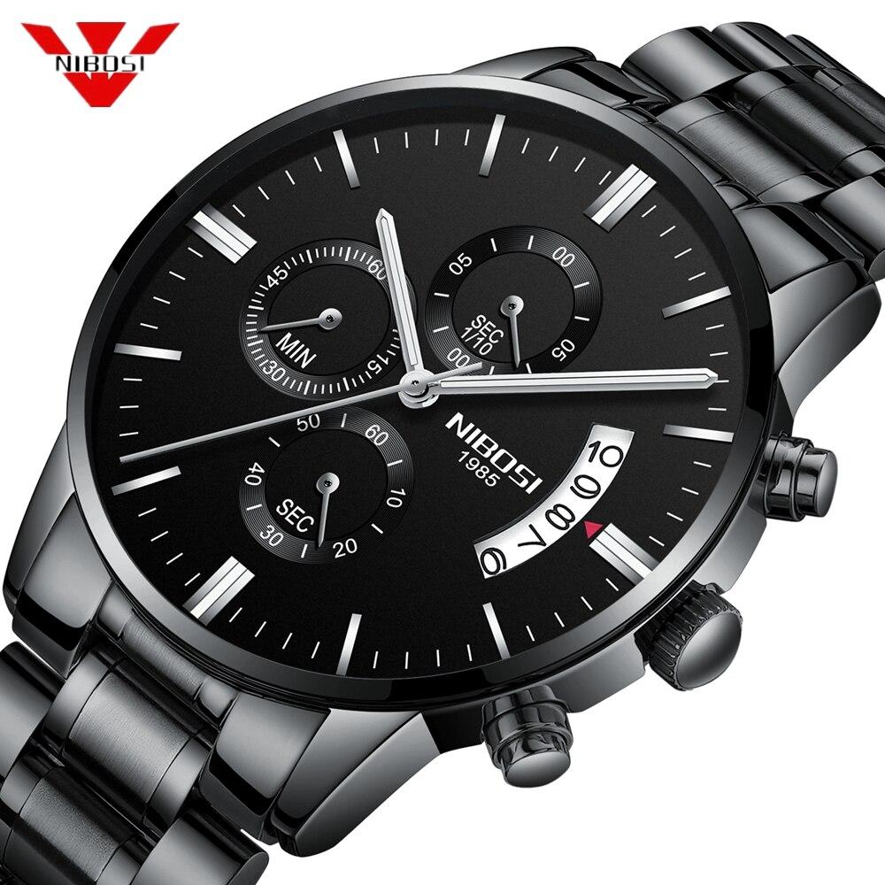 Relojes para hombre NIBOSI de marca de lujo Militray Sport Quartz Watch hombres impermeables reloj deportivo relojes de pulsera reloj Masculino relogo Masculino