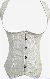 Image 3 - Caudatus jacquard sexy del corsetto di underbust shapewear a spirale in acciaio disossato cinghie della maglia corsetti bustier g string outwear pus dimensione S 6X