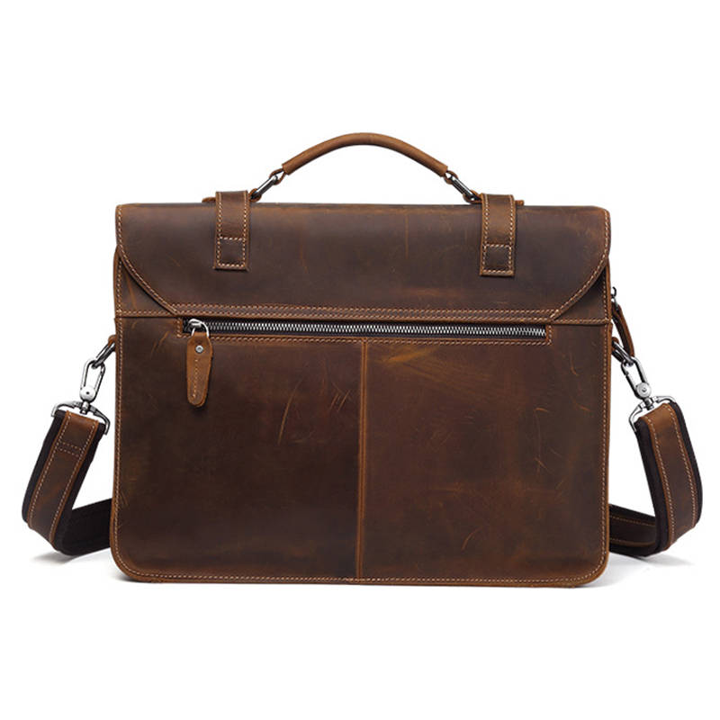 brown Taschen Männer Echtem Aus Luxus Reise Vintage Laptop Büro Aktentasche Messenger Black coffee Business Bolsas Leder Schulter Große Handtasche qqpHTw