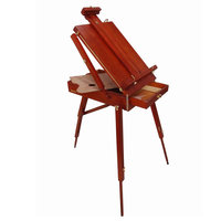 Red Beech Box Easel For Watercolor Oil painting Box Hardware Accessories Multifunctional Painting Suitcase Art Supplies Artist
