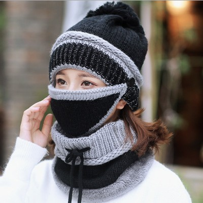 2018-HOT-Winter-Beanie-Hat-Scarf-and-Mask-Set-3-Pieces-Thick-Warm-Knit-Cap(5)