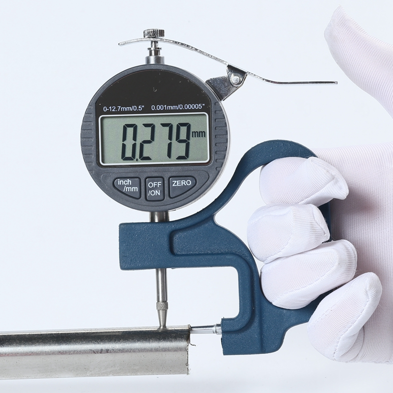 цены Digital Tube Thickness Gauge 0.001mm LCD Electronic Tube Micrometer Thick Gauge Pipe Dial Indicator Width Measure Tools 0-10mm