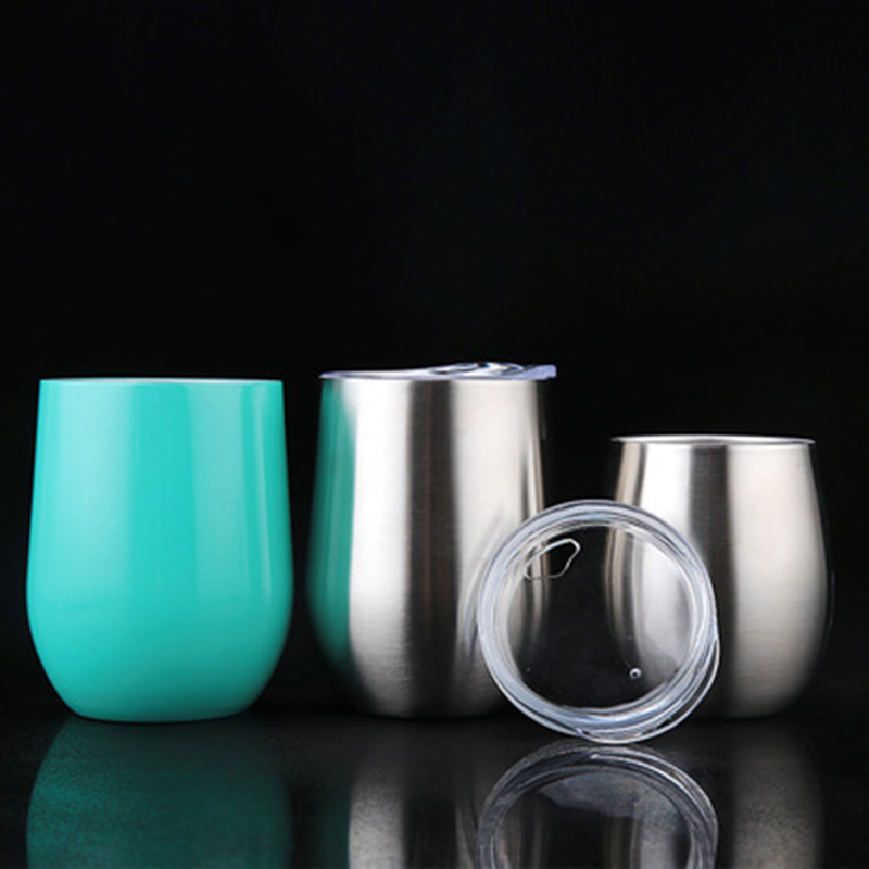 1pcs stainless steel wine glass drinking cup beer wine cup tumbler sippy cup barware kitchen. Black Bedroom Furniture Sets. Home Design Ideas