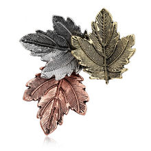 Spilla Mujer Vintage Pin Maple Leaf Spilla Spille Pins Collare Squisita Per Le Donne Dance Party Accessori(China)