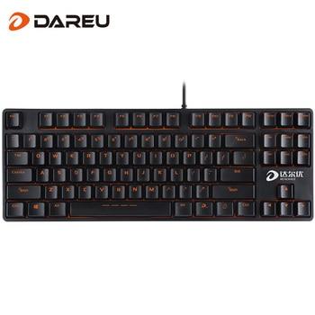 Dareu DK100 Gaming Mechanical Keyboard Anti-Ghosting 87keys Wired USB Powered For Tablet Desktop Gamer オープン エアー ヘッド セット