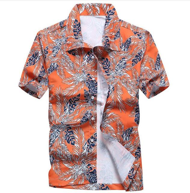 Men s Summer Hawaiian Shirts Single Breasted Light Beach Shirts Short  Sleeve Breathable Plus Size XS-5XL Hawaii Shirts 71a164904d78