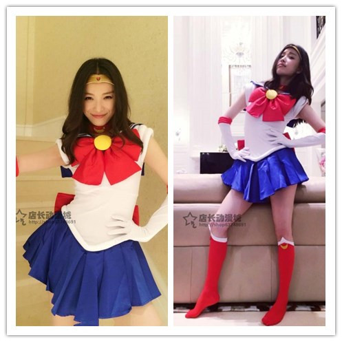 Anime pretty soldier super sailor moon Cosplay dress sailor jupiter costume set tiara lolita adult costumes crystal cosplay moon bts taehyung warriors