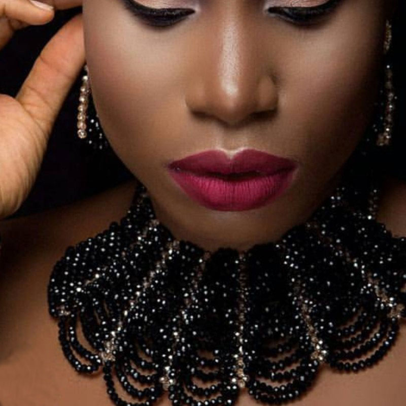 Dudo Store 2019 tour de cou à la mode Bracelet africain collier boucles d'oreilles noir et or ensemble de bijoux fins livraison gratuite ensemble fait main