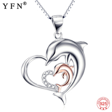 YFN 2016 New Fashion 925 Sterling Silver Jewelry For Women Hot Sale  feminino colliers femme bijoux colar com pingente