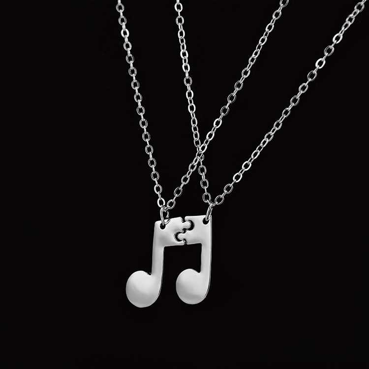 Boho Jewelry Choker Delicate Musical Note Pendant Necklace for Women Music Note Symbol Chain Necklaces & Pendants