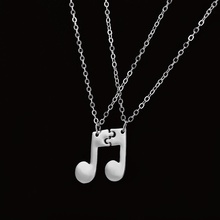 Boho Jewelry Choker Delicate Musical Note Pendant Necklace for Women Music Symbol Chain Necklaces & Pendants