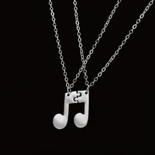 Boho Jewelry Choker Delicate Musical Note Pendant Necklace for Women Music Note Symbol Chain Necklaces & Pendants(China)
