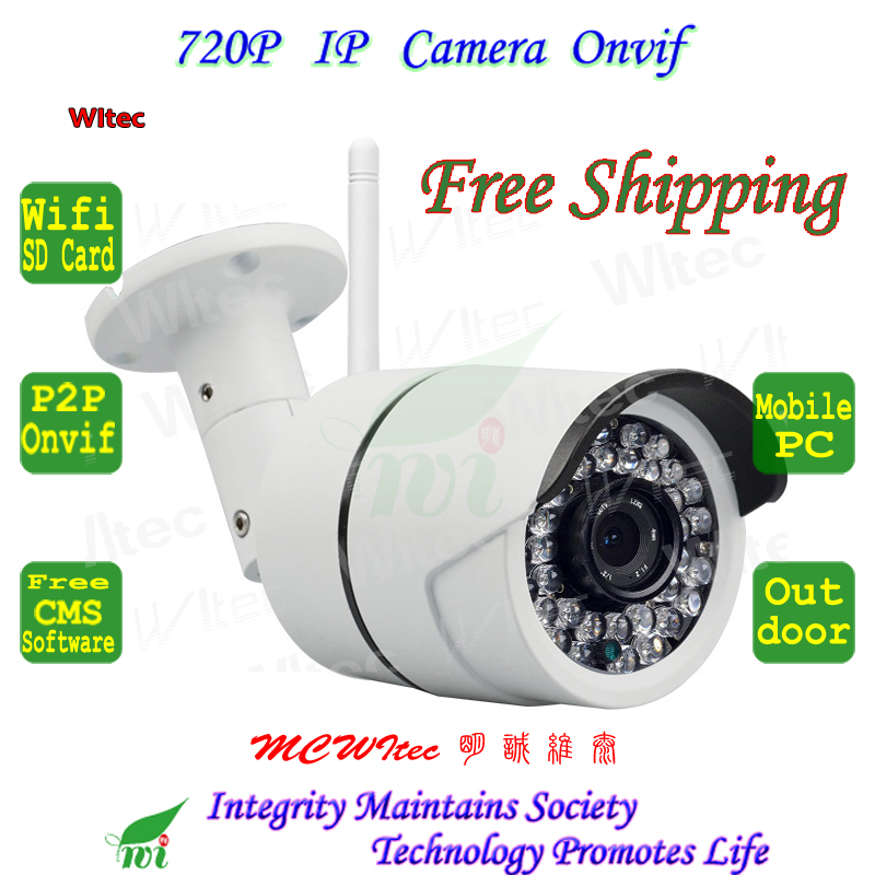 WIFI 720P IR Leds Camera Outdoor Bullet ONVIF Night Vision P2P IP Cam IR Cut Filter 1.0MP Network Support Max 32G TF Card тепловизор condtrol ir cam 2