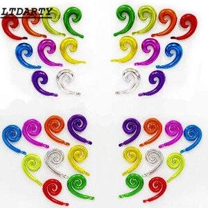 Image 3 - 10pcs 다채로운 나선형 웨이브 커브 호 일 단일 또는 더블 롤 풍선 가족 생일 파티 웨딩 장식 벽 스티커 Inf