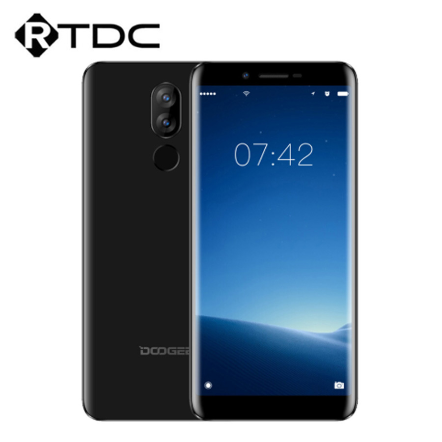 DOOGEE X60L Android 7.0 Fingerprint 5.5'' Mobile Phone MTK6737 2GB+16GB 3300mAh Battery Dual Cameras 13MP+8MP 4G OTA Smartphone-in Cellphones from Cellphones & Telecommunications    1