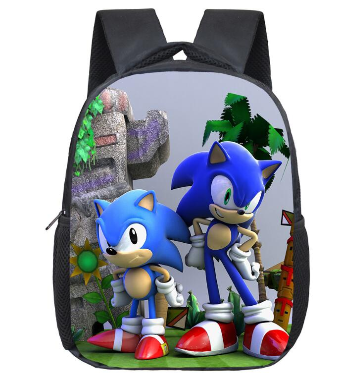 12 Inch Super Mario Bros Sonic Boom Hedgehogs Kindergarten School Bags Bookbags Children Baby Toddler Bag Kids Backpack Gift