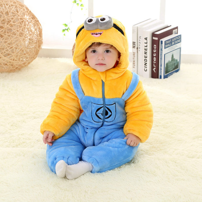 2017 Cartoon Figure Design Newborn Baby Romper Winter Long Sleeve Cotton Jumpsuit Infant And Toddlers Baby Clothes RL11-3 puseky 2017 infant romper baby boys girls jumpsuit newborn bebe clothing hooded toddler baby clothes cute panda romper costumes
