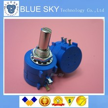 Free shipping 10pcs 3590S-2-103L Variable Resistor Potentiometer 10k ohm Rotary Wirewound Precision Potentiometer 10 Turn(China (Mainland))