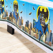 1pc Batman Birthday Party Decoration Kids Boys Event Supplies 108cm*180cm Table Cloth For Tablecloth