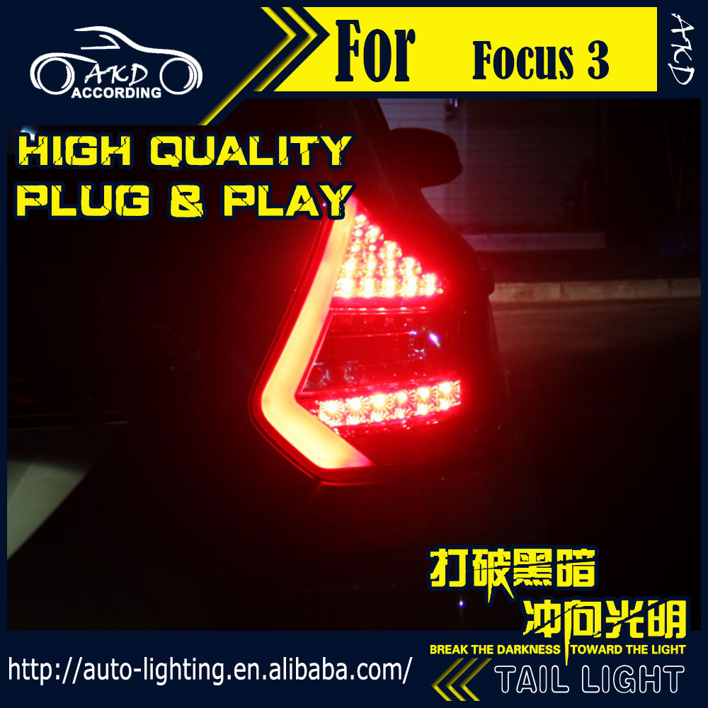 AKD Car Styling Tail Lamp for Ford Focus Tail Lights 2012 HatchBack LED Tail Light LED Signal LED DRL Stop Rear Lamp Accessories car headlights for ford focus 3 sedan hatchback 2015 2016 2017 led headlight kit head lights drl turning lights auto front lamps