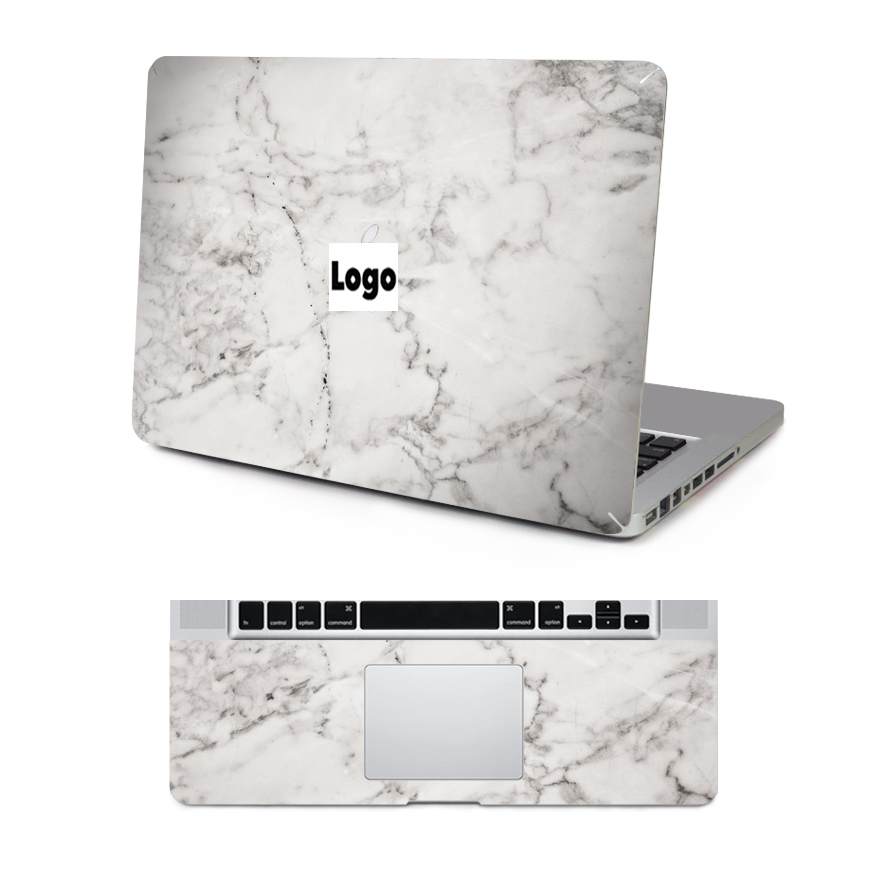 2016 Grey Amp White Marble Texture Laptop Skin Top Keyboard