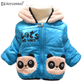 2017 Panda Jackets For Girls Winter Warm Children Clothes 2 3 4T Boys Coat Long Sleeve Boy Girl Hooded Down Jacket Kids Clothing