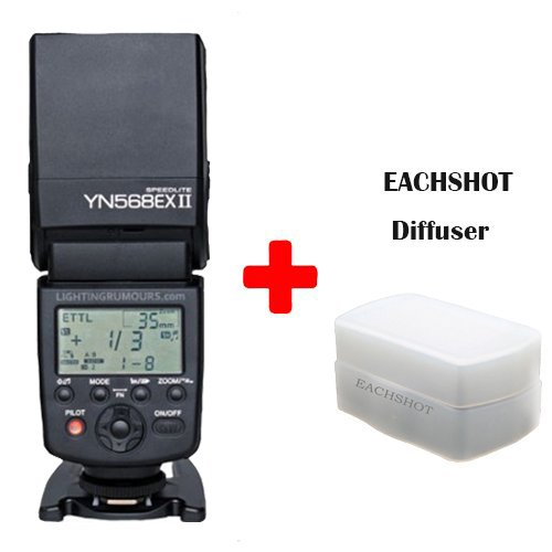 Yongnuo YN-568EX II for Canon YN568EX Flash Speedlite YN 568 for 5DIII 5DII 5D 7D 60D 50D 650D 600D 550D 500D 450D 400D 350D yongnuo yn 568ex ii for canon master hss ettl flash speedlite for 5diii 5dii 5d 7d 60d 50d 650d 600d 550d 12 pcs color cards