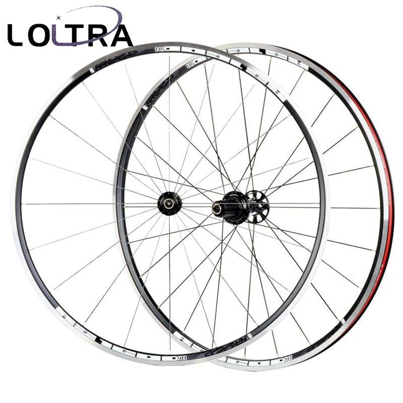 Road Bike Wheel Koozer RS1600 6 Pawl 72 Click Aluminium Alloy not Carbon Racing Bicycle Wheelset 700c x23c tyre 2:1 1600g(China)