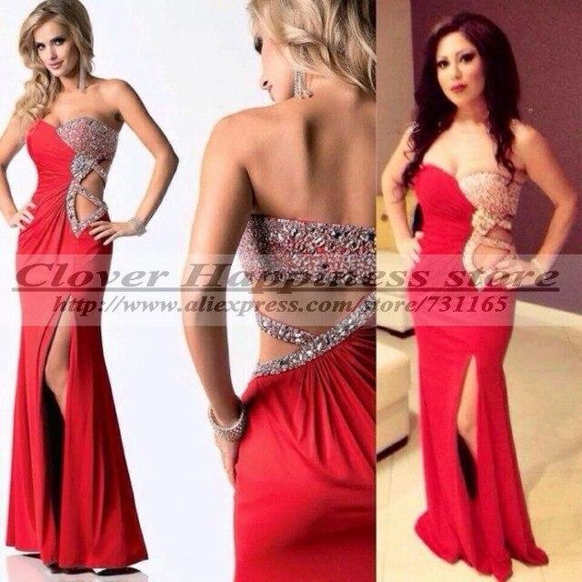 Vestidos De Festa Vestido Longo Red Long Mermaid Evening Dress 2014 ...